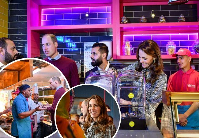 Royal couple make milkshakes and tuck into Asian dishes at MyLahore