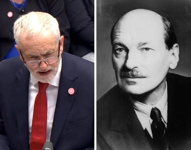 Jeremy Corbyn and Clement Attlee