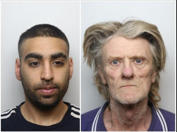Bradford Telegraph and Argus: Hussain (left) and Hodgson were jailed at Bradford Crown Court yesterday