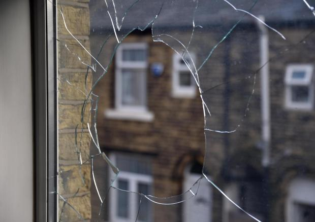 Bradford Telegraph and Argus: Damage to the house