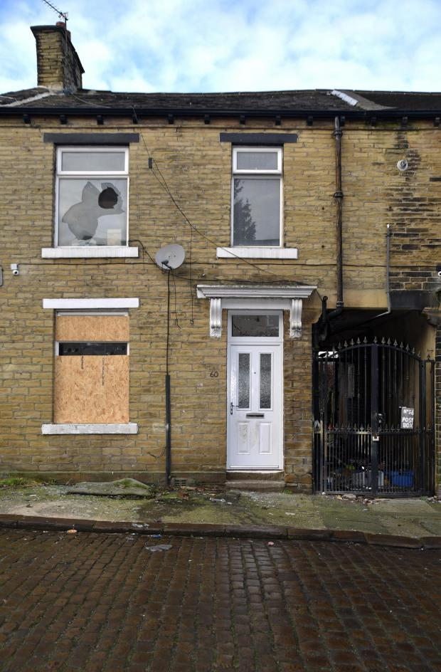 Bradford Telegraph and Argus: The damaged house