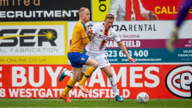 Eoin Doyle in his final City appearance when they lost 3-0 at Mansfield in January. Picture: Thomas Gadd