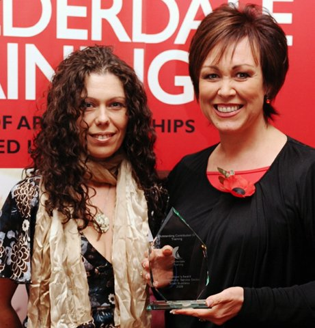 Christa Ackroyd is pictured with Carolyn Bowe (left), National Breakdown marketing manager