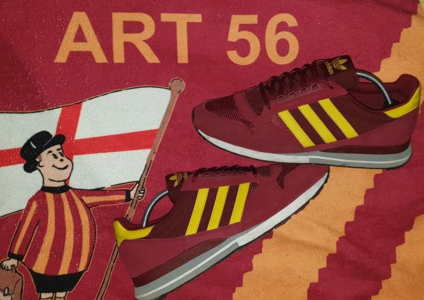 Bradford Telegraph and Argus: A pair of trainers from Craig Bell's collection in Bradford City colours