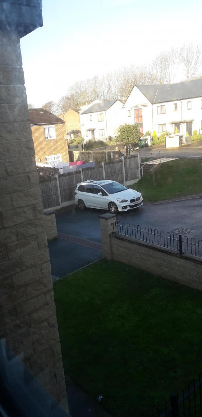 My neighbour - horrendous parking, blocking my driveway.