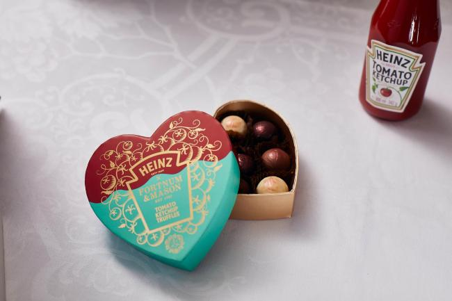 Saucy! Heinz has made tomato ketchup chocolate truffles for Valentine's Day. Pic credit: PA