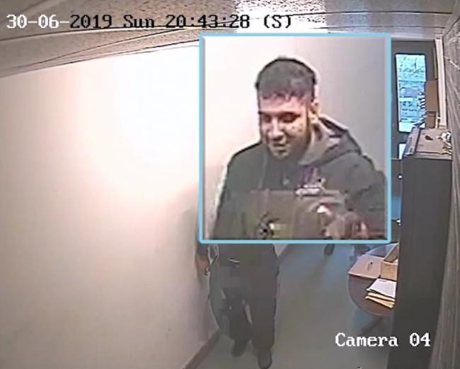 CCTV of Mohammed Feazan Ayaz at Denholme Business Centre