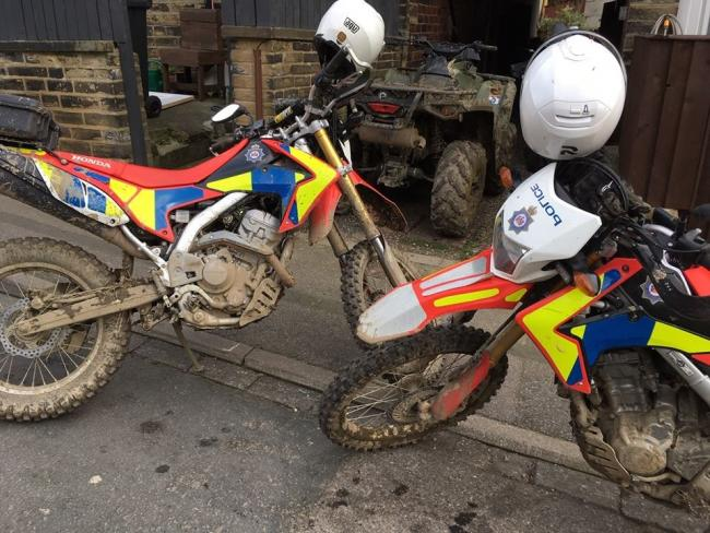 Police seized this quad-bike after spotting it being driven anti-socially in Cleckheaton.