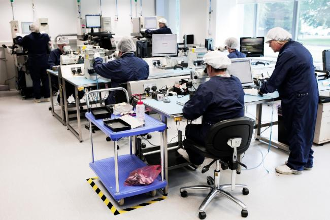 A Filtronic manufacturing team
