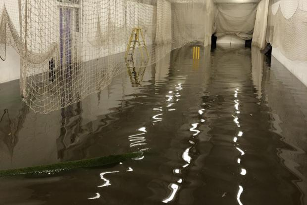 Bradford & Bingley's indoor cricket nets have been badly flooded