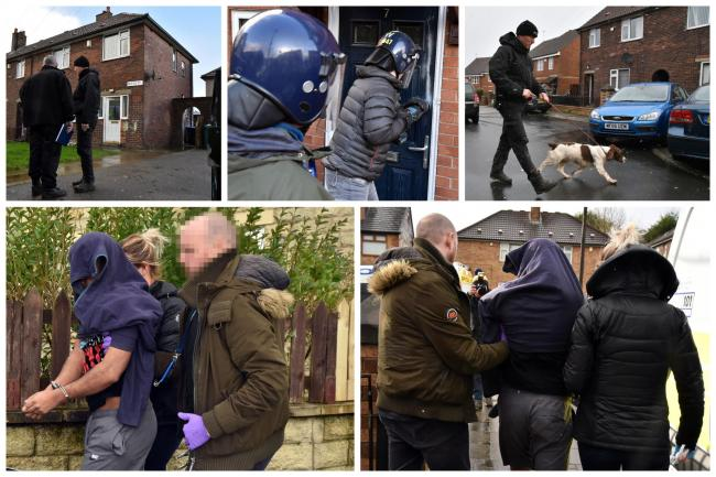 Homes were raided in Bradford as part of the major 'county lines' operation