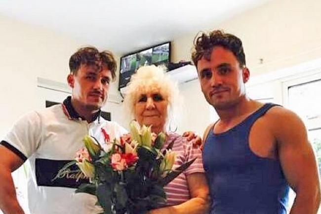Billy Smith and Joe Smith with their grandmother