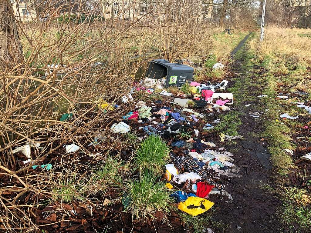 FLY TIPPING 'EYESORE': 'We have to walk past this every day'