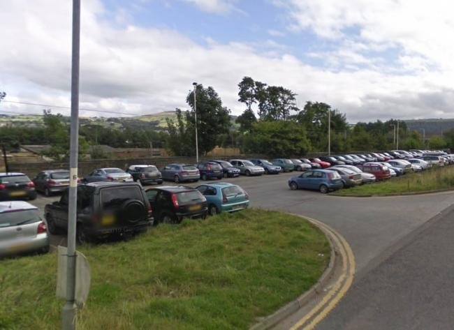 The existing car park at Steeton & Silsden railway station (image: Google Street View).