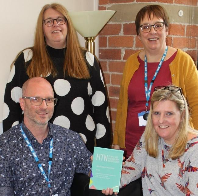 Operational Support and Contract Lead, Cliff Springthorpe, Clinical Systems Specialist, Dawn McCann, Service Manager, Alex Horsfall, and Interim Integration and Development Lead, Gill Brayshaw, all from the Trust's Family Health services team, celebra