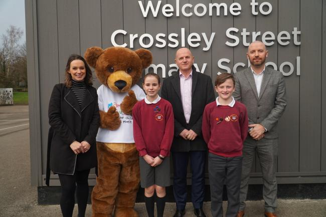 Linley & Simpson's Community Fund launch at Crossley Street Primary School