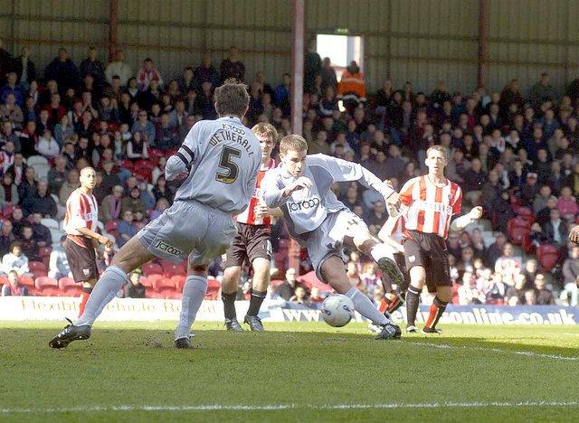 Michael Symes' third goal for the Bantams came in his final game against Brentford in 2006