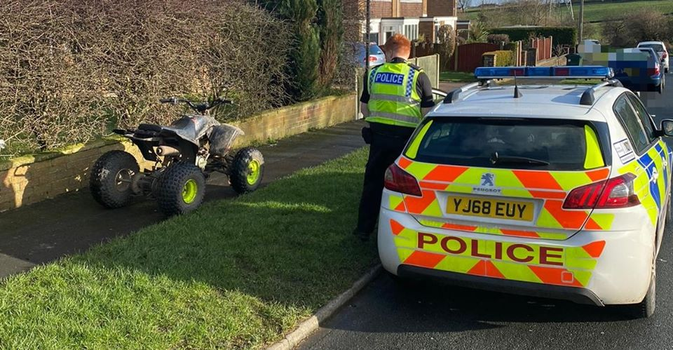 SEIZED: Quad biker tried to accelerate away from police...but stalled