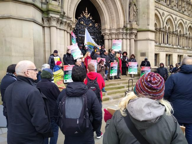 WATCH: Groups rally in Bradford against 'hostile environment' immigration policy