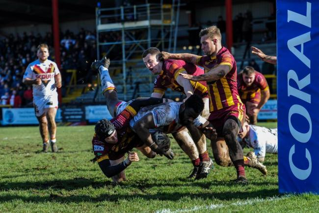 Bulls ran out 22-0 winners over Underbank Rangers in the Coral Challenge Cup fourth round. Picture: Tom Pearson