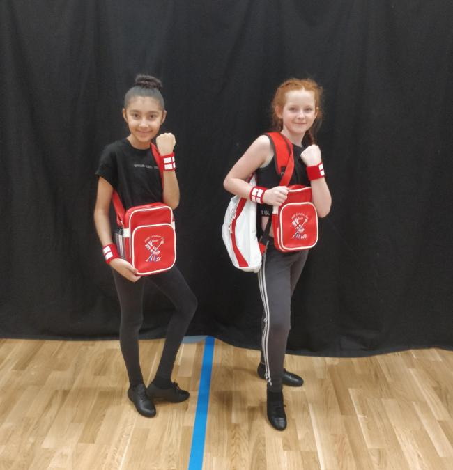 Sophie Khan (left) and Lillie-Grace Best (right) will represent England at the World Baton Twirling Federation European Cup in July
