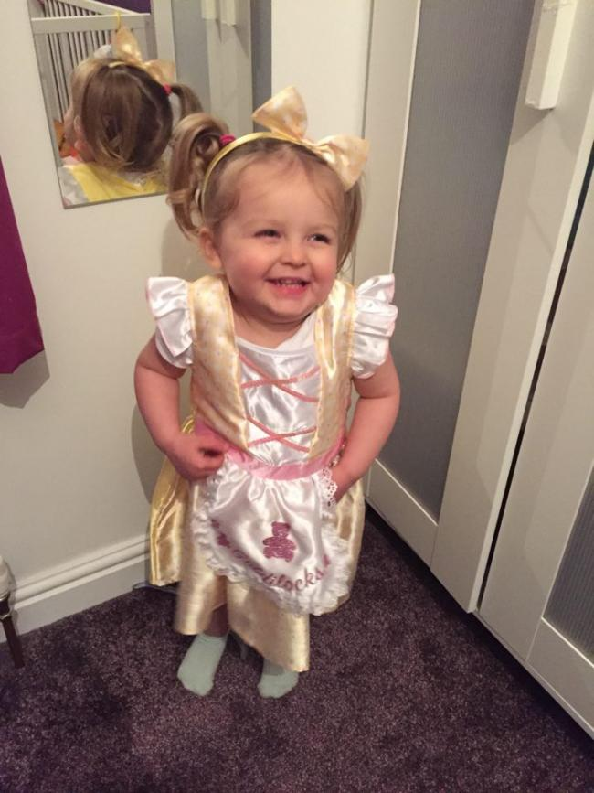 Isla, 2 excited to dress up as as Goldilocks for her first World Book Day at Pre-School :)