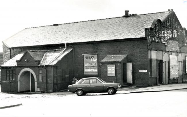 The Pelican Bingo Club, pictured in March 1975 after the raid