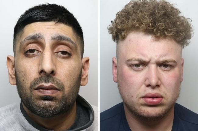 Ghufran Khalid, 40, and Paul Serrant, 29, were jailed at Bradford Crown Court