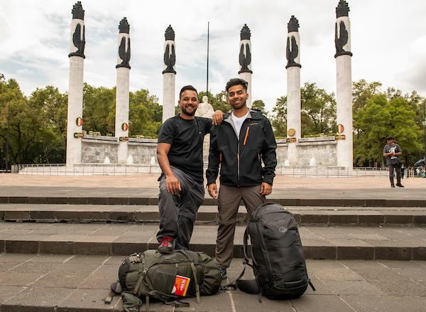 Emon and Jamiul Choudhury in Mexico City. Picture: BBC