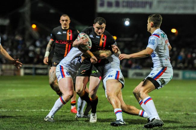 Bulls' Jordan Lilley last took to the field against Wakefield in the Challenge Cup on March 13 Picture: Tom Pearson