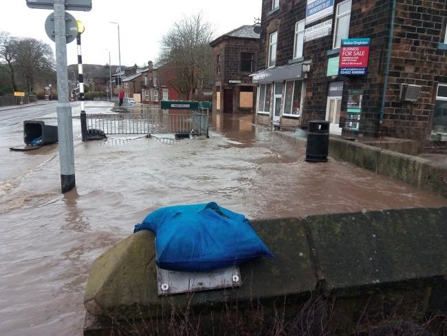 Flooding in Calderdale during Storm Ciara