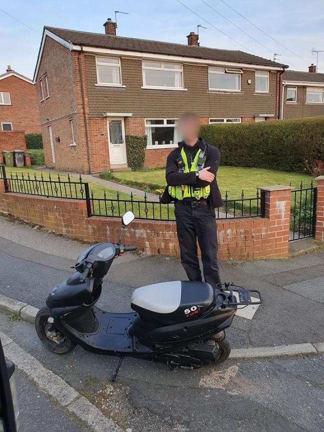 Police seized this scooter after reports of it being used in an anti-social way.