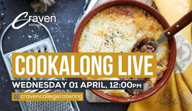 Cookalong Live with Craven College Catering Tutor, Richard Newall.