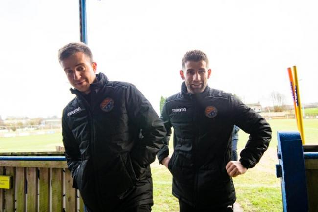 Matthew Cavanagh (left) acted as Endrit Shehu's assistant in his last season at the club Picture 5 little boys photography