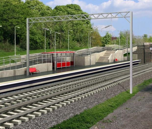 an artist's impression of how the station will look
