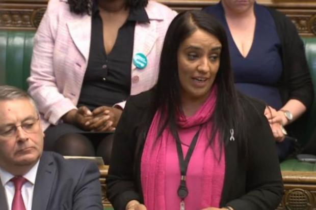 Bradford West MP Naz Shah, pictured here speaking in the House of Commons, made an appearance in the video