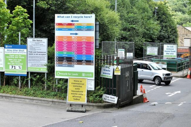 The Ellar Ghyll waste recycling centre at Otley