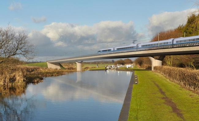 An artist's impression of an HS2 train