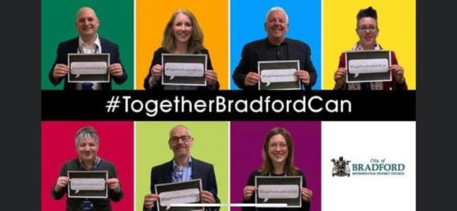 Bradford Council originally tweeted out this poster to applaud the efforts of those in Bradford during the coronavirus crisis, but it has since been removed.