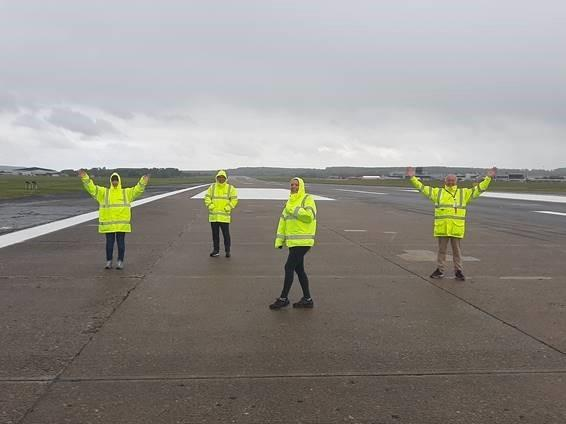 Staff at Leeds Bradford Airport completed a charity challenge to raise funds for Leeds Bradford Airport