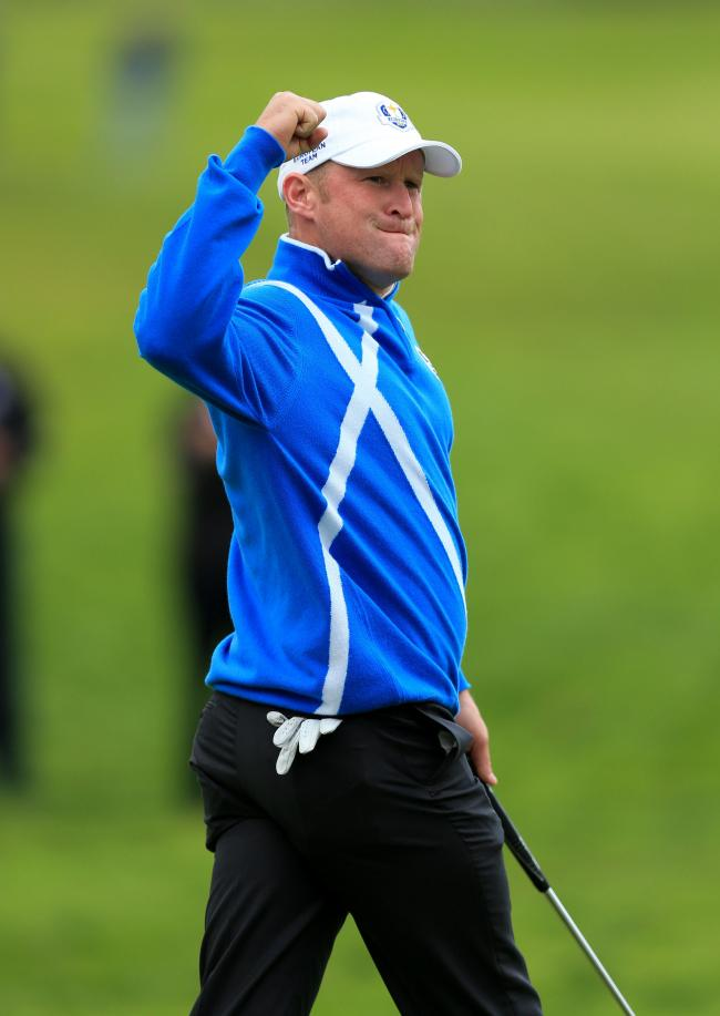 Jamie Donaldson in action for Europe at the 2014 Ryder Cup Picture: Mike Egerton/PA Wire