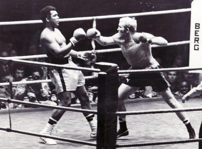 Muhammad Ali scored his last ever knockout inside a professional ring over Bradford's Richard Dunn