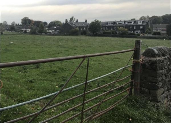The site of the proposed housing on Derry Hill, Menston