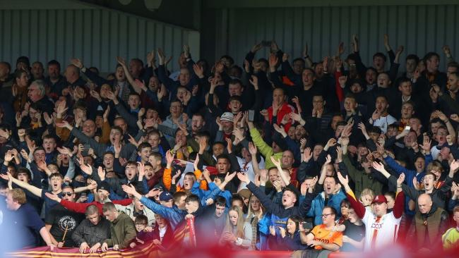 City fans filled the away end at Morecambe but that may not be allowed next season. Pic: Thomas Gadd