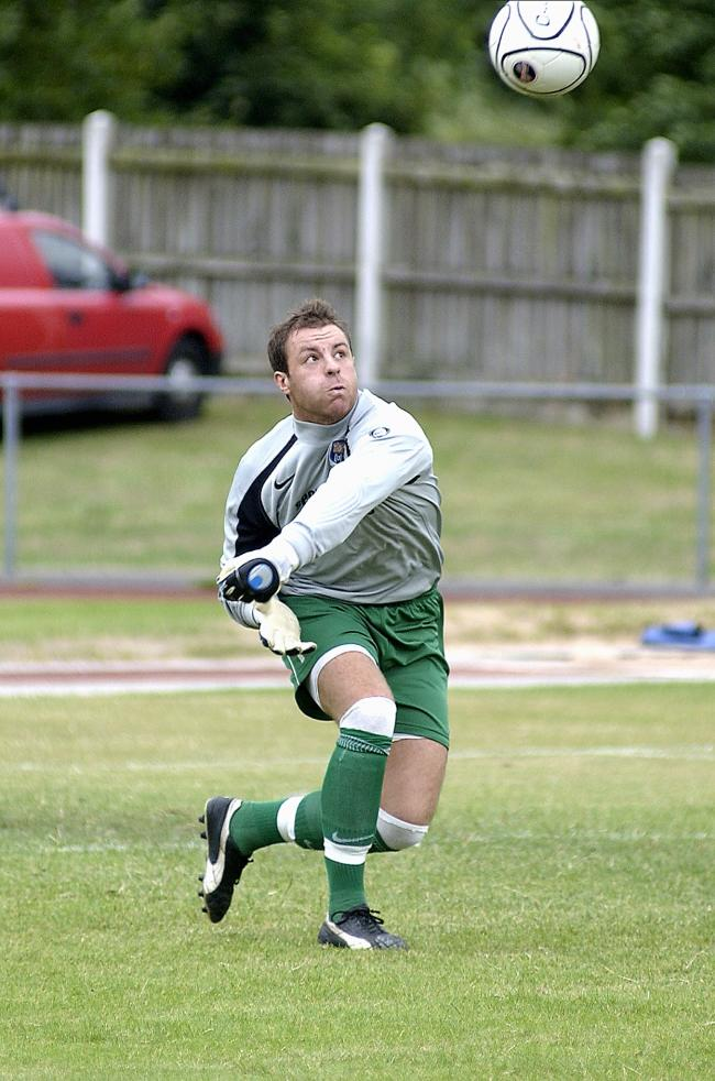 Tom Morgan in action for Farsley in a friendly against Bradford (Park Avenue) Picture: Lucy Ray