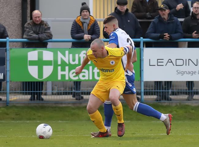 Guiseley's number three, Brad Nicholson, has already been retained by the club for next season, and he is set to be joined by some new boys soon Picture: Alex Daniel Photography.