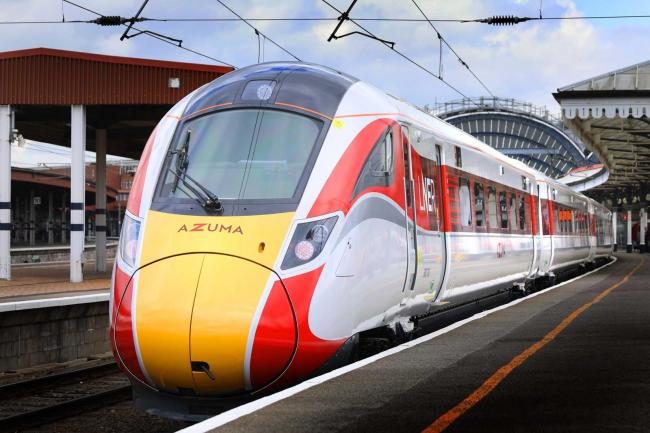 An LNER Azuma train which will run on the new service
