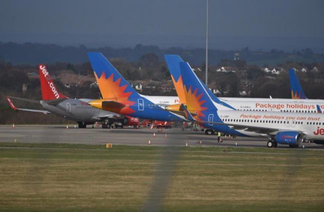 Planes at Leeds Bradford Airport