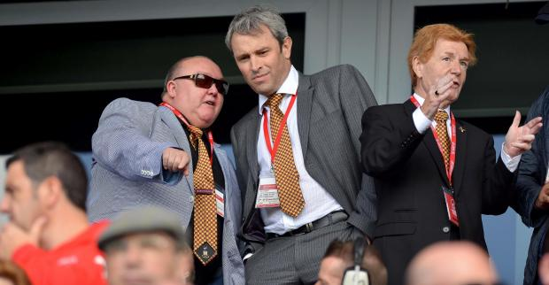 Bradford Telegraph and Argus: Mark Lawn, left, and Julian Rhodes sold Bradford City in 2016