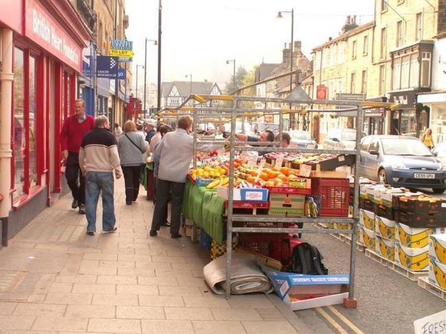 Otley Market traders on Kirkgate